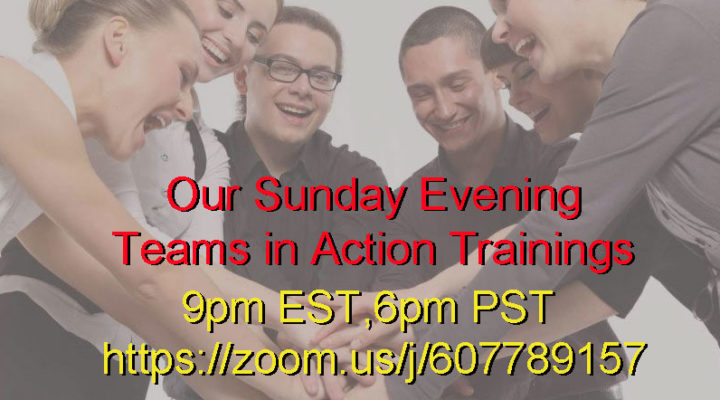"Sunday Evening Training Online-<a href=""https://zoom.us/j/607789157"" target=""_blank"">ENTER</a>"